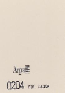 0204 - это название цвета и покрытия для категории Пластики ARPA Однотонные